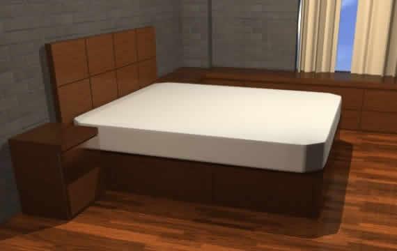 imagen Cama kingsize con cajones y mueble, en Dormitorios - Muebles equipamiento