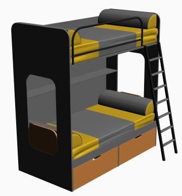 Cama litera – cama cucheta, en Dormitorios – Muebles equipamiento
