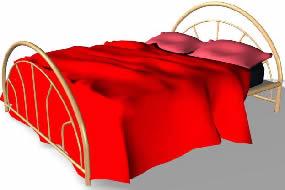 Cama matrimonial 3d, en Dormitorios – Muebles equipamiento