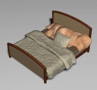 imagen Cama matrimonial 3d, en Dormitorios - Muebles equipamiento