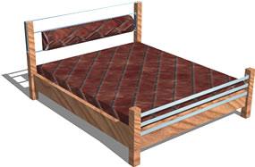 Planos de Cama matrimonial 3d, en Dormitorios – Muebles equipamiento