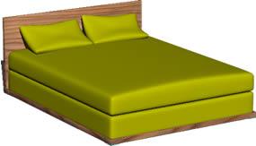 Planos de Cama matrimonial en 3d, en Dormitorios – Muebles equipamiento