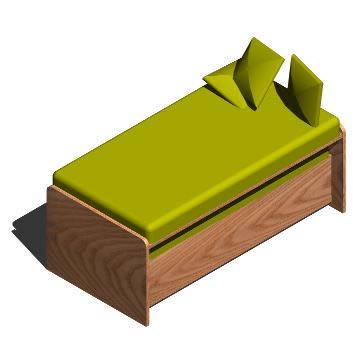 Planos de Cama nido con cajones, en Dormitorios – Muebles equipamiento