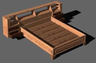 Planos de Cama sarchi 3d, en Dormitorios – Muebles equipamiento
