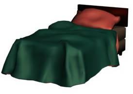 Cama simple 3d, en Dormitorios – Muebles equipamiento