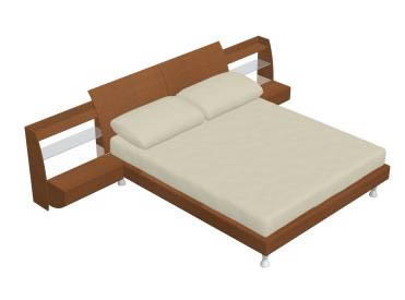 Cama y buroi 3d, en Dormitorios – Muebles equipamiento