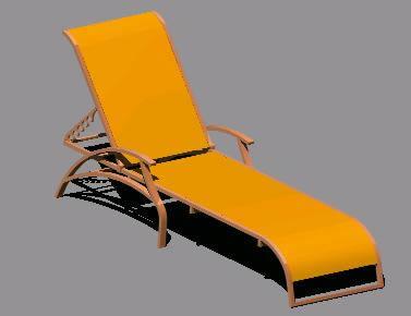 Planos de Camastro 3d, en Accesorios – Piscinas y natatorios
