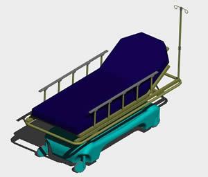 imagen Camilla 3d, en Equipamiento - Hospitales