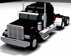Camión 3d, en Camiones – Medios de transporte