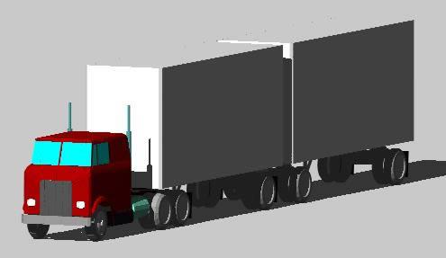Camion 3d, en Camiones – Medios de transporte