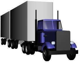 Camión con acoplado, en Camiones – Medios de transporte