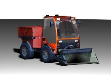 Camión con pala, en Maquinaria – Obradores