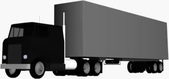 Camion con semirremoilque 3d, en Camiones – Medios de transporte