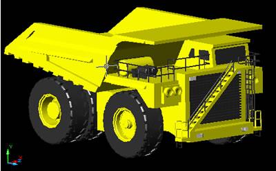 Planos de Camión minero 3d, en Maquinaria – Obradores