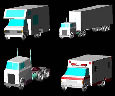 Planos de Camiones y utilitarios 3d, en Utilitarios – Medios de transporte