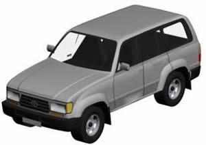 Camioneta 4×4 3d, en Automóviles en 3d – Medios de transporte