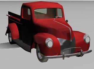 Camioneta antigua 3d, en Utilitarios – Medios de transporte