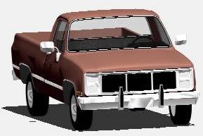 Planos de Camioneta chevrolet 3d, en Utilitarios – Medios de transporte
