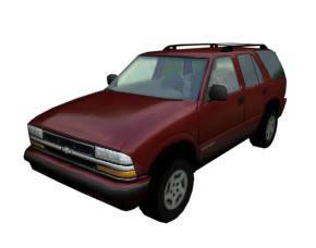 imagen Camioneta chevrolet blazer 3d con materiales aplicados, en Automóviles en 3d - Medios de transporte