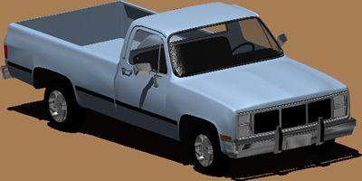 Planos de Camioneta chevrolet, en Automóviles en 3d – Medios de transporte