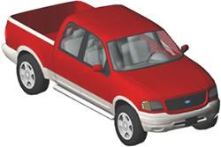 imagen Camioneta ford 3d, en Automóviles en 3d - Medios de transporte