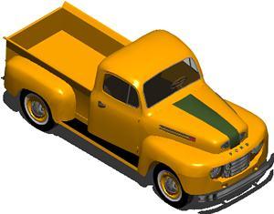 Planos de Camioneta ford antigua, en Automóviles en 3d – Medios de transporte