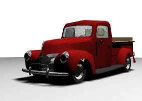 Camioneta ford clasico 3d, en Automóviles en 3d – Medios de transporte