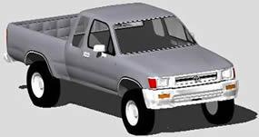 Planos de Camioneta toyota, en Utilitarios – Medios de transporte