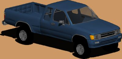 Planos de Camioneta toyota hilux, en Automóviles en 3d – Medios de transporte