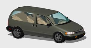 imagen Camioneta windstar 3d con materiales, en Automóviles en 3d - Medios de transporte