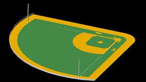 Planos de Campo de baseeball, en Proyectos estadios – Deportes y recreación