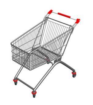 Canasta de supermercado 3d, en Objetos varios – Muebles equipamiento