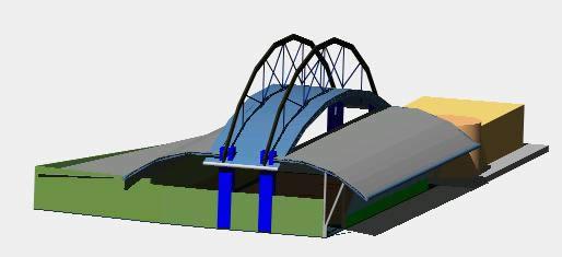 Planos de Cancha cubierta en 3d, en Proyectos centros deportivos – Deportes y recreación