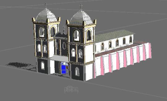 imagen Capilla en 3d, en Arq. religiosa - Proyectos