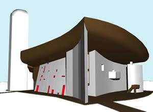 Capilla ronchamp notre dame du haut lecorbusier – modelo en 3d, en Obras famosas – Proyectos