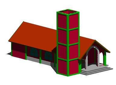 Planos de Capilla tradicional 3d, en Arq. religiosa – Proyectos