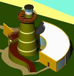 Planos de Capilla y faro 3d, en Arq. religiosa – Proyectos