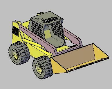 Planos de Cargador. 3d  – palita mecánica, en Utilitarios – Medios de transporte