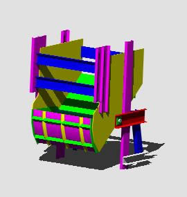 Planos de Cargador frontal 3d, en Camiones – Medios de transporte