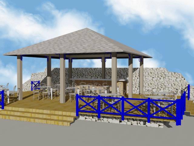 imagen Carpon de playa 3d, en Bares y restaurants - Muebles equipamiento