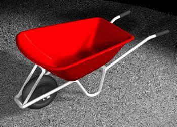 Carretilla .3d, en Objetos varios – Muebles equipamiento
