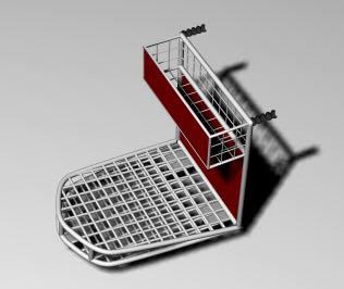 Carrito de super 3d, en Supermercados y tiendas – Muebles equipamiento
