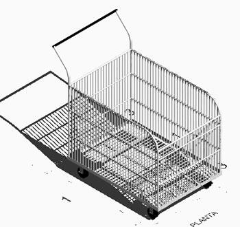 Planos de Carrito de supermercado, en Supermercados y tiendas – Muebles equipamiento