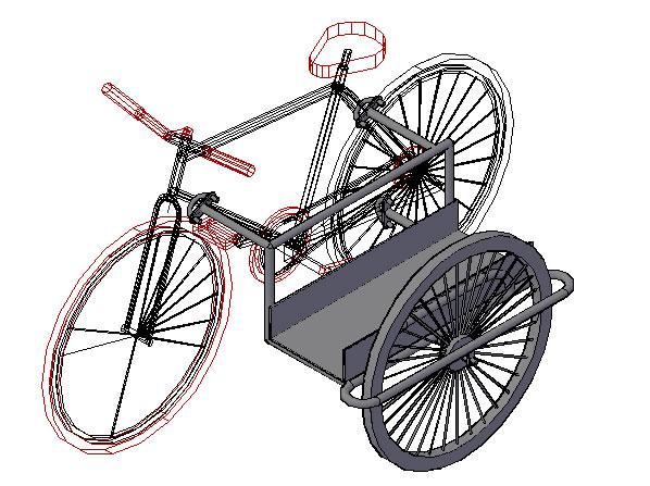 imagen Carro de carga para bicicleta, en Motos y bicicletas - Medios de transporte