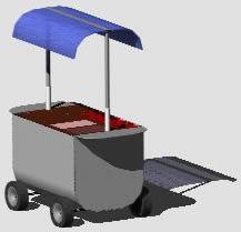 Carro panchitero 3d, en Quinchos – churrasquerías – cocinas alternativas – Parques paseos y jardines