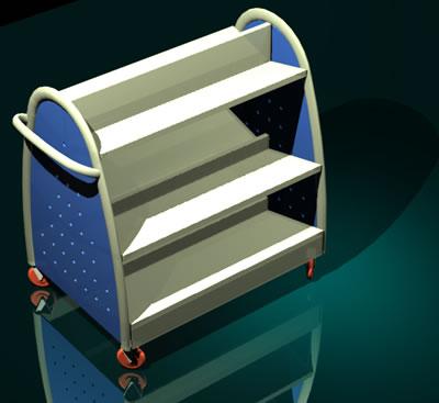 Planos de Carro transporta libros 3d y materiales, en Muebles varios – Muebles equipamiento