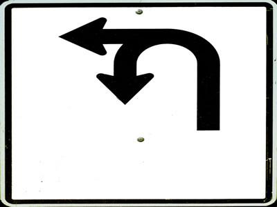 imagen Cartel de carretera, en Carreteras caminos y calles - Obras viales - diques