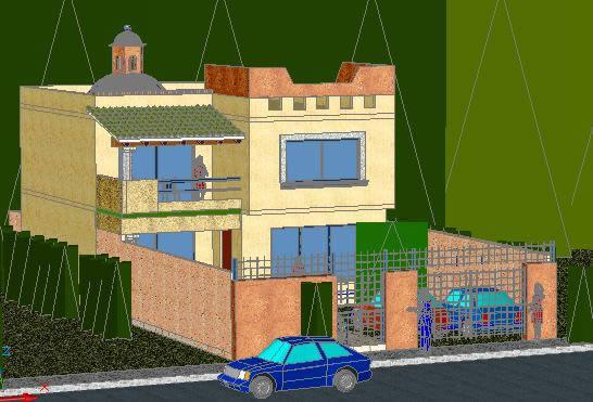 imagen Casa 3d, en Vivienda unifamiliar - Proyectos