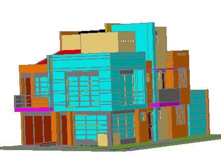 Planos de Casa alberto arias 3-d, en Vivienda unifamiliar 3d – Proyectos