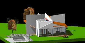 Planos de Casa campestre en 3d, en Vivienda unifamiliar 3d – Proyectos